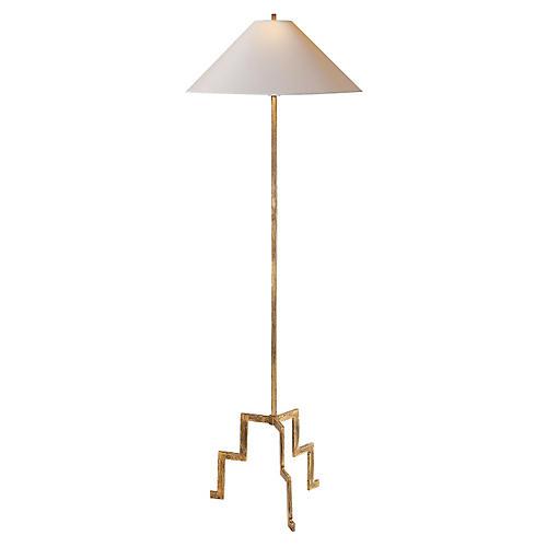 Lancaster Floor Lamp, Gilded Iron