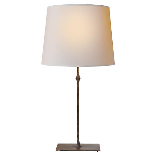 Dauphine Table Lamp, Aged Iron