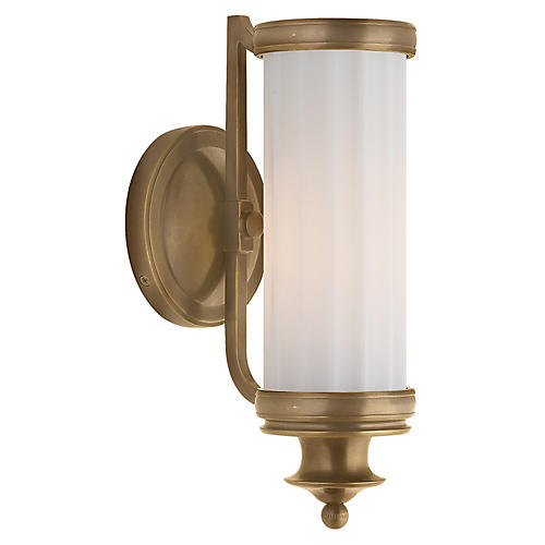 Milton Road Sconce, Antiqued Brass
