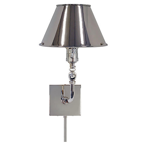 Swivel Head Wall Lamp in Polished Nickel