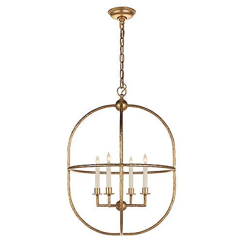 Desmond Open Oval Lantern, Gild
