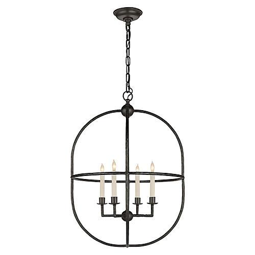 Desmond Open Oval Lantern, Aged Iron
