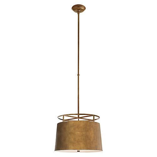 Bryden Round Pendant, Gilded Iron