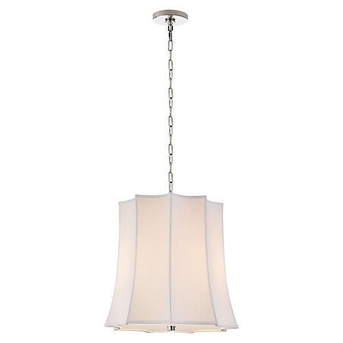 Peter Crown Hanging Shade, Polished Nickel