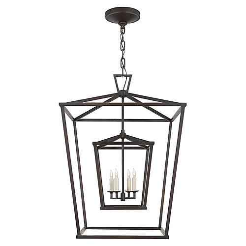 Darlana Large Double Cage Lantern, Iron