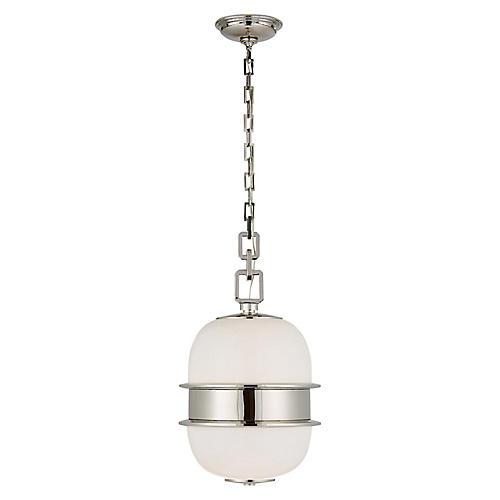 Rotunda Ringed Pendant, Polished Nickel