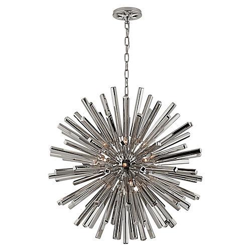 Lawrence Sputnik Pendant, Polished Nickel