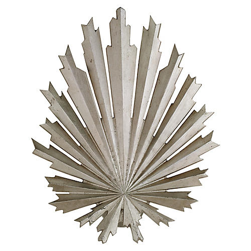 Claymore Washer Sconce, Burnished Silver Leaf