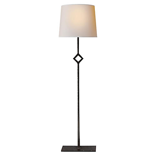 Cranston Table Lamp, Aged Iron