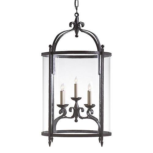 Gillespie Oval Lantern, Aged Iron