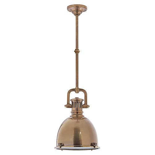 Yoke Pendant, Antiqued Brass
