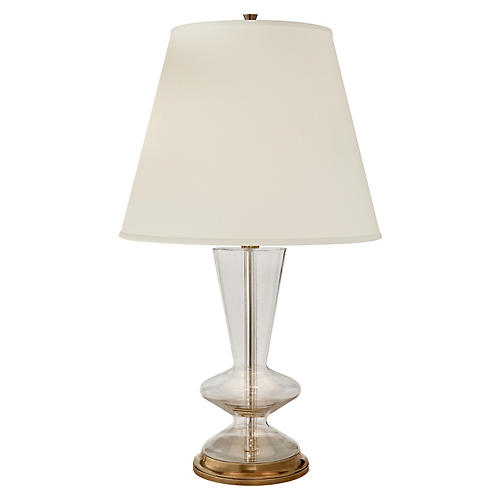 Arpel Table Lamp, Clear/Brass