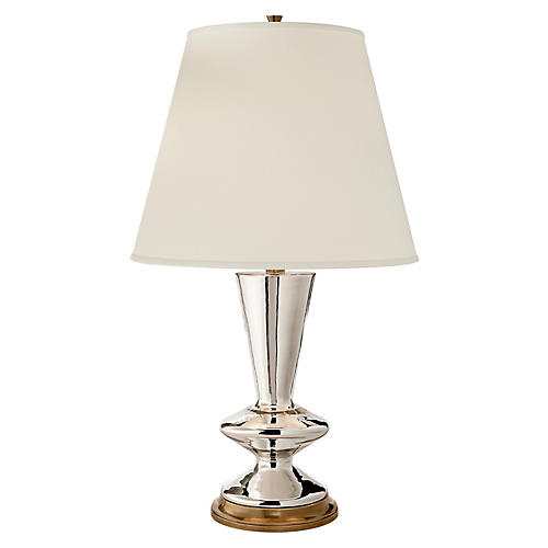 Arpel Table Lamp, Mercury/Brass