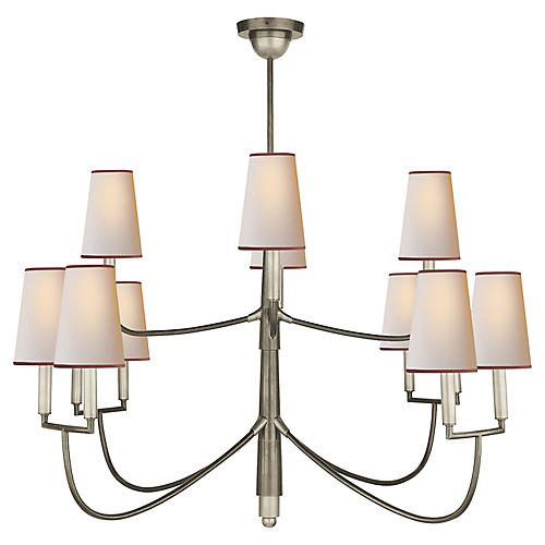 Farlane 12-Light Chandelier, Antiqued Nickel