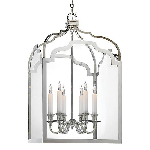Westminster Medium Lantern, Nickel/Clear