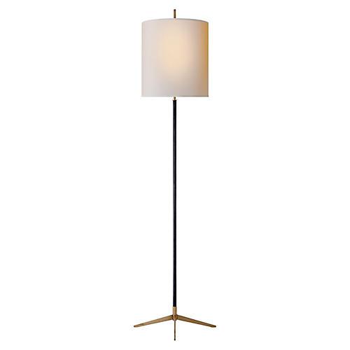 Caron Floor Lamp, Bronze/Brass
