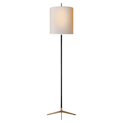 Caron Floor Lamp, Bronze/Brass