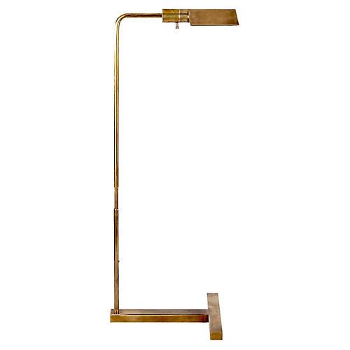 William Pharmacy Floor Lamp, Brass