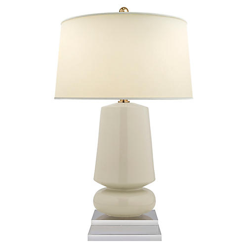 Parisienne Small Table Lamp, Coconut