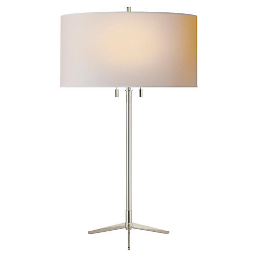 Caron Table Lamp, Nickel