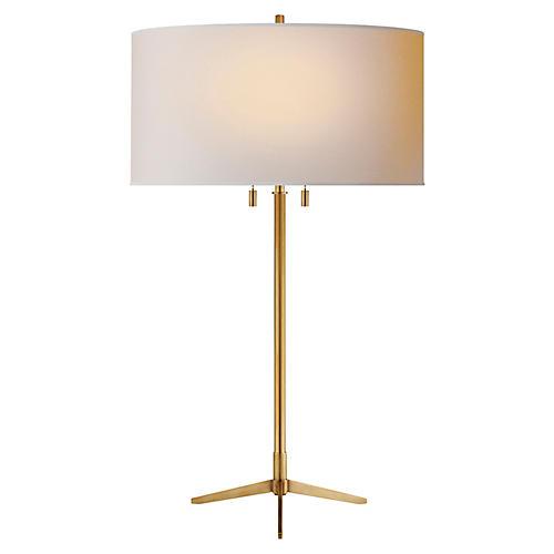 Caron Table Lamp, Brass