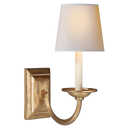 Flemish Sconce, Distressed Gold
