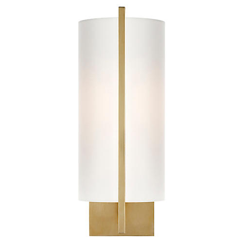 Framework Sconce, Soft Brass