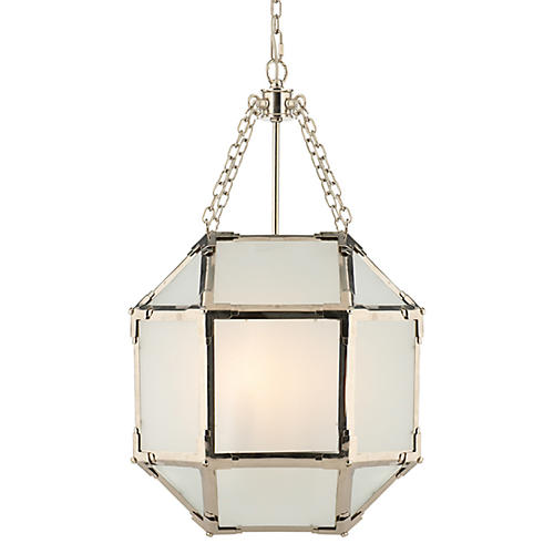 Morris Lantern, Nickel/Frosted