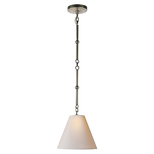 Goodman Hanging Shade, Nickel/Natural