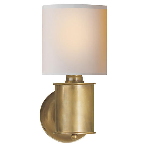 Metropolitan Sconce, Brass