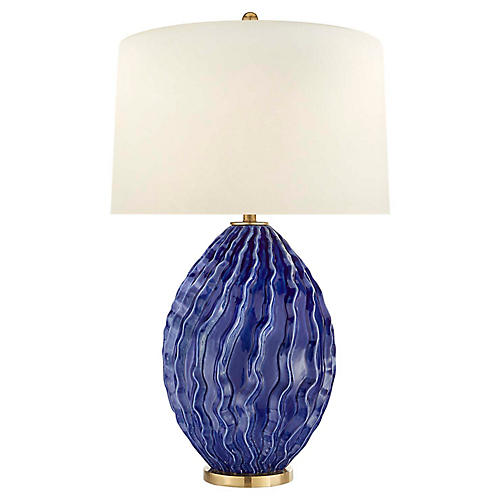 Dianthus Large Table Lamp, Flowing Blue