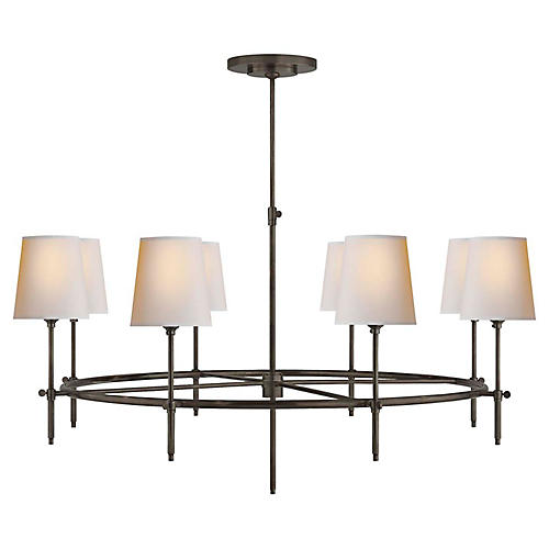 Bryant Large Ring Chandelier, Bronze