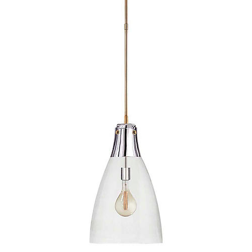 Altare Large Pendant, Polished Nickel/Brass
