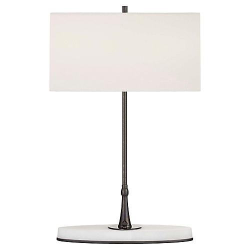 Casper Medium Table Lamp, Bronze/Alabaster