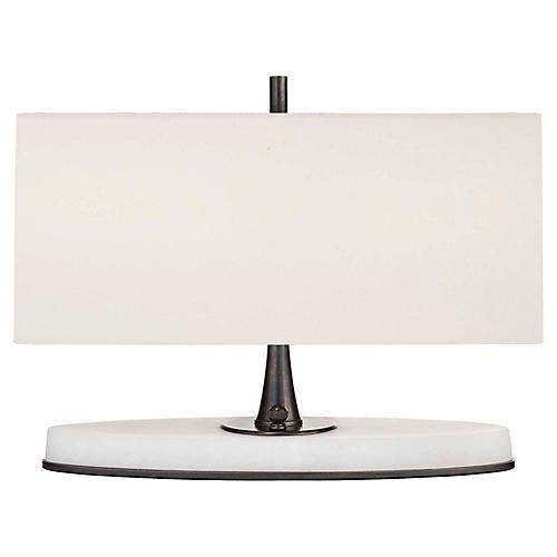 Casper Small Table Lamp, Bronze/Alabaster