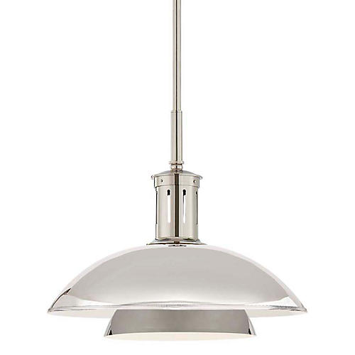 Whitman Medium Pendant, Polished Nickel