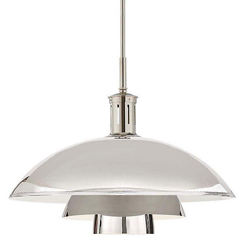 Whitman Large Pendant, Polished Nickel