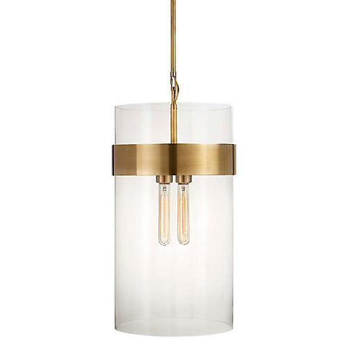 Presidio Medium Pendant, Antiqued Brass