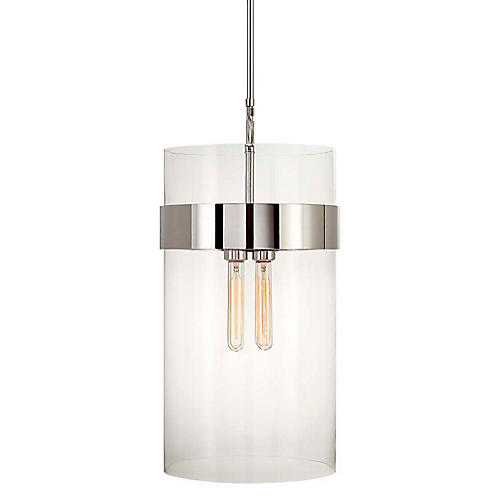 Presidio Medium Pendant, Polished Nickel