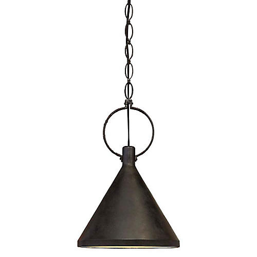 Limoges Medium Pendant, Aged Iron