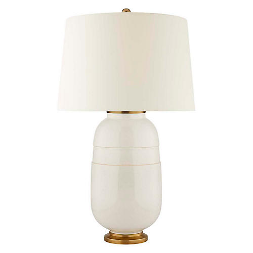 Newcomb Table Lamp, Ivory
