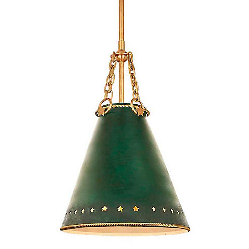 Hadley Small Pendant, Green