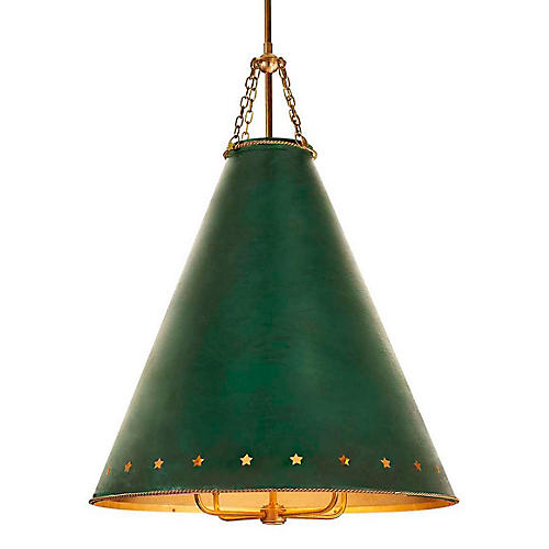 Hadley Medium Pendant, Green