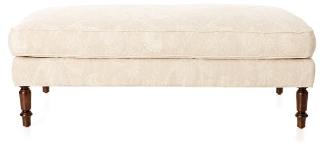 "Beverly 51"" Plush Bench, Oatmeal"