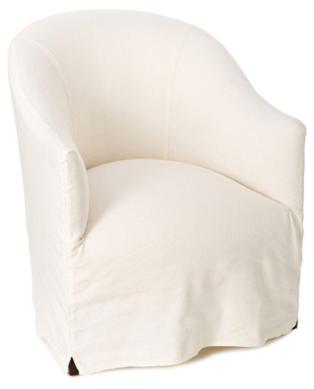 Lunette Barrel Chair, White