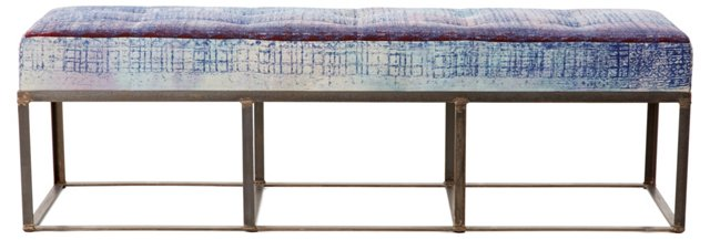 Cruz Bench, Blue/Multi