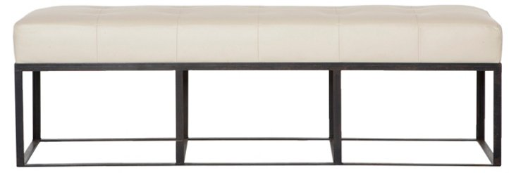 Cruz Leather Bench