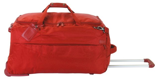 "27"" Foldable 2-Wheel Duffel, Red"
