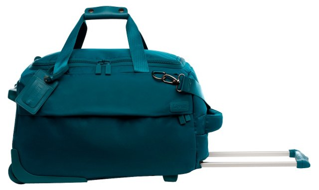 20'' Foldable 2-Wheel Duffel, Aqua