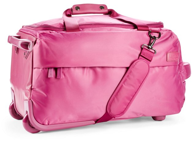 20'' Foldable 2-Wheel Duffel, Fuchsia